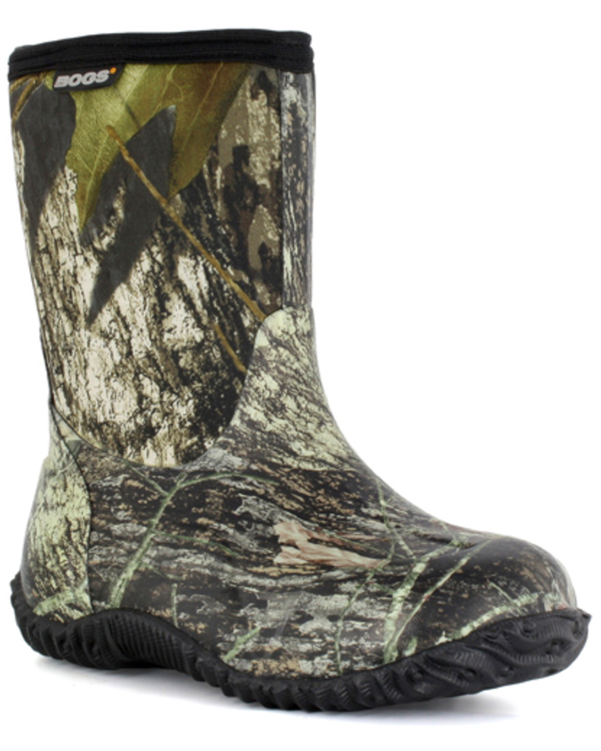 1e6bd3692bc Bogs Boys' Classic Mid Mossy Oak Waterproof Boots - Round Toe