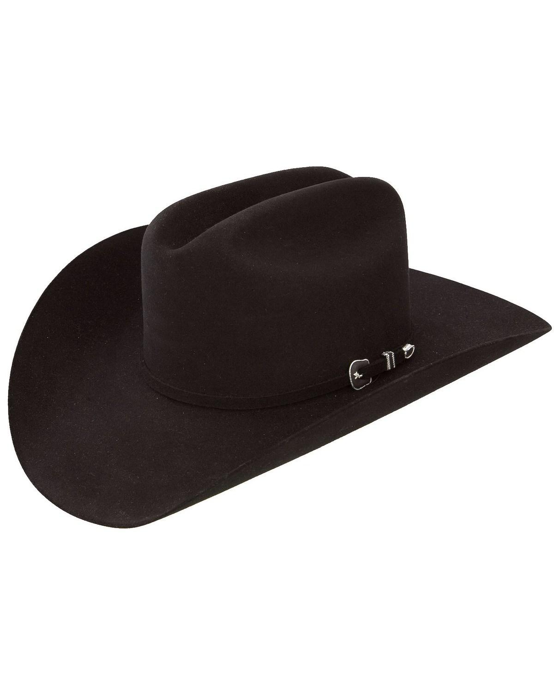 Resistol 6X City Limits George Strait Black Fur Felt Cowboy Hat ... 3c6600d3e9e8