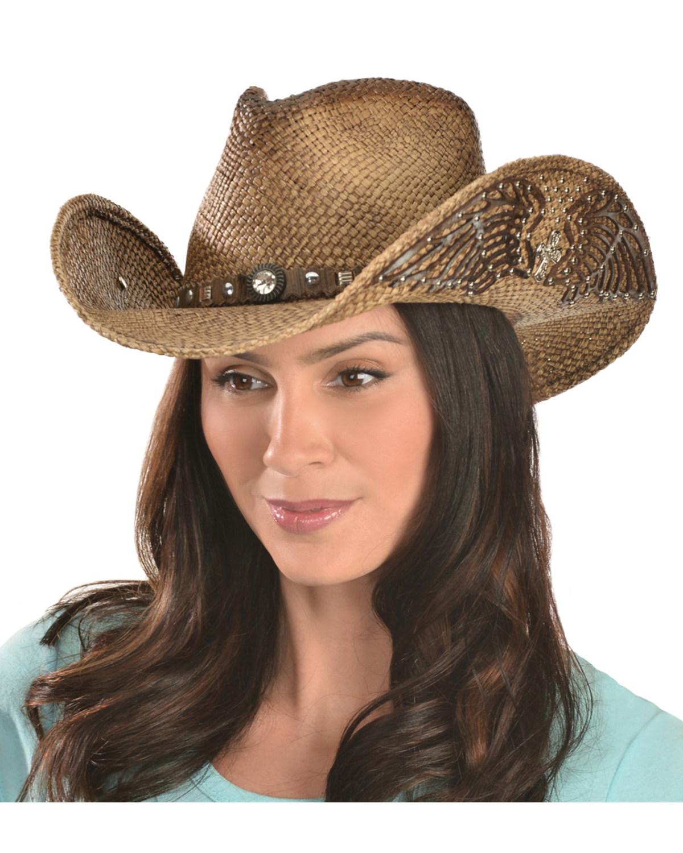 Bullhide Women s Western Inspiration Straw Hat  74b4864b081