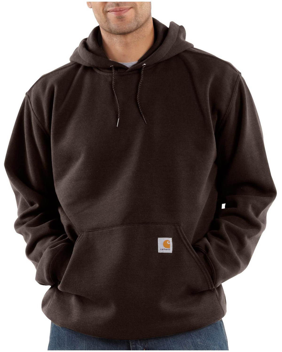 921e56494f Zoomed Image Carhartt Men's Midweight Hooded Pullover Sweatshirt, Dark  Brown, hi-res