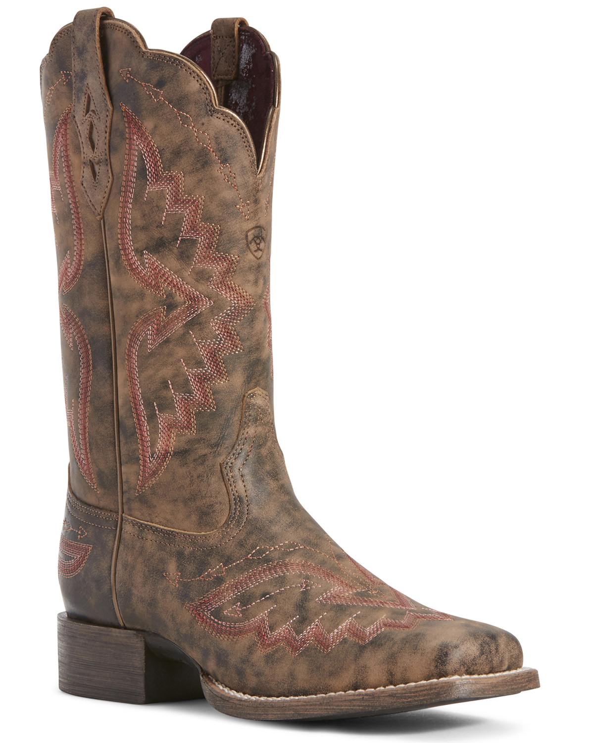 3562e15c8b8 Ariat Women's Round Up Santa Fe Western Boots - Wide Square Toe