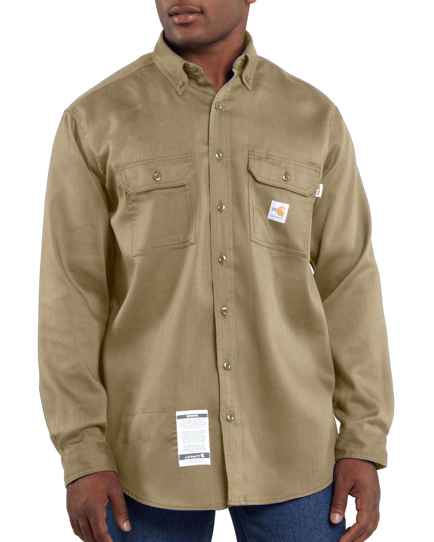 f700b452e524 Carhartt Men s Long Sleeve Flame Resistant Dry Twill Work Shirt ...