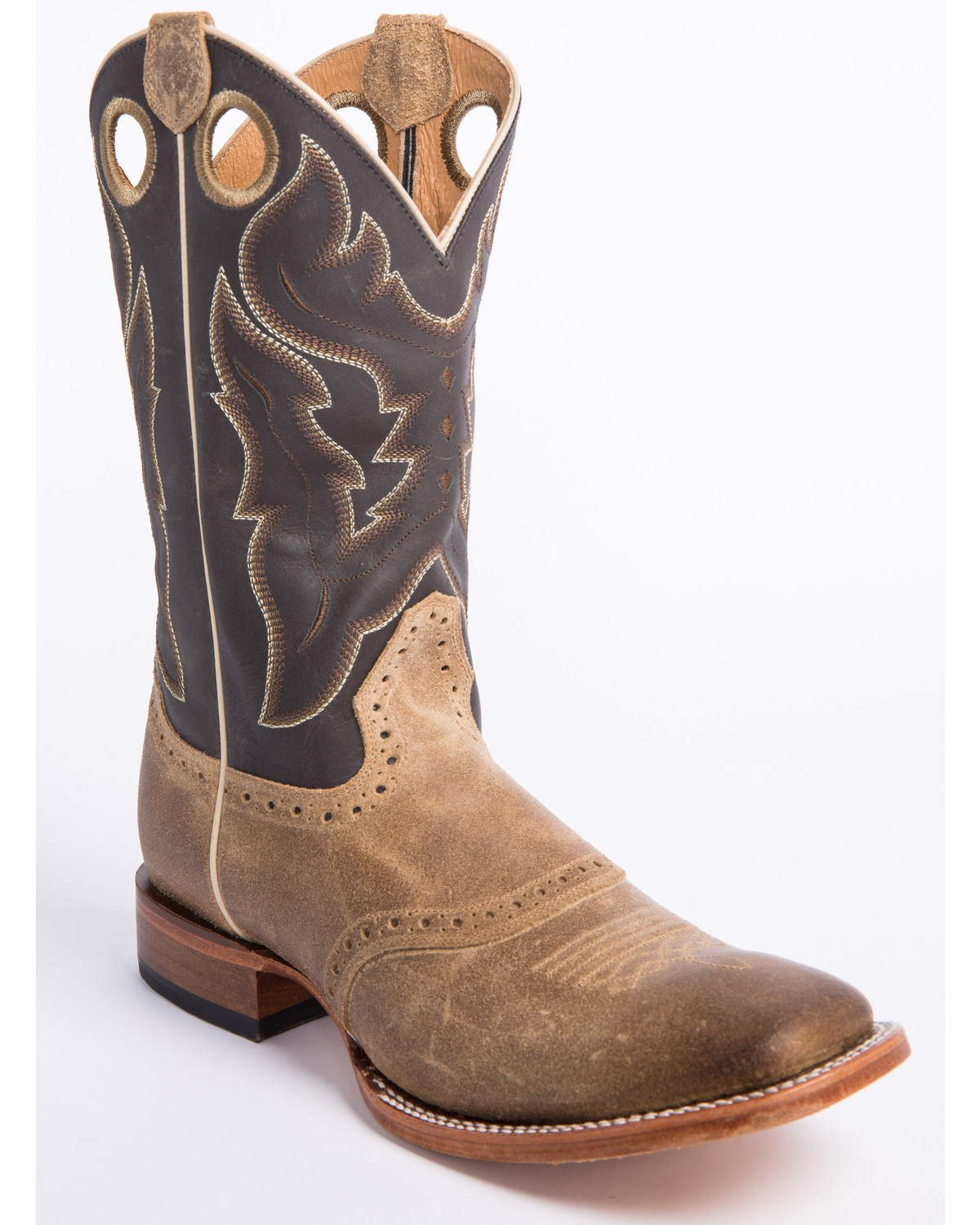 a34a139445b Cody James Men's Tan Roughout Western Boots - Wide Square Toe