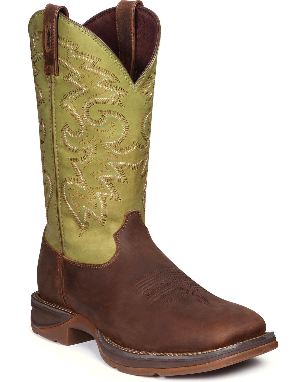 6b4c3ddaa9d Durango Rebel Men's Coffee & Cactus Western Boots - Square Toe
