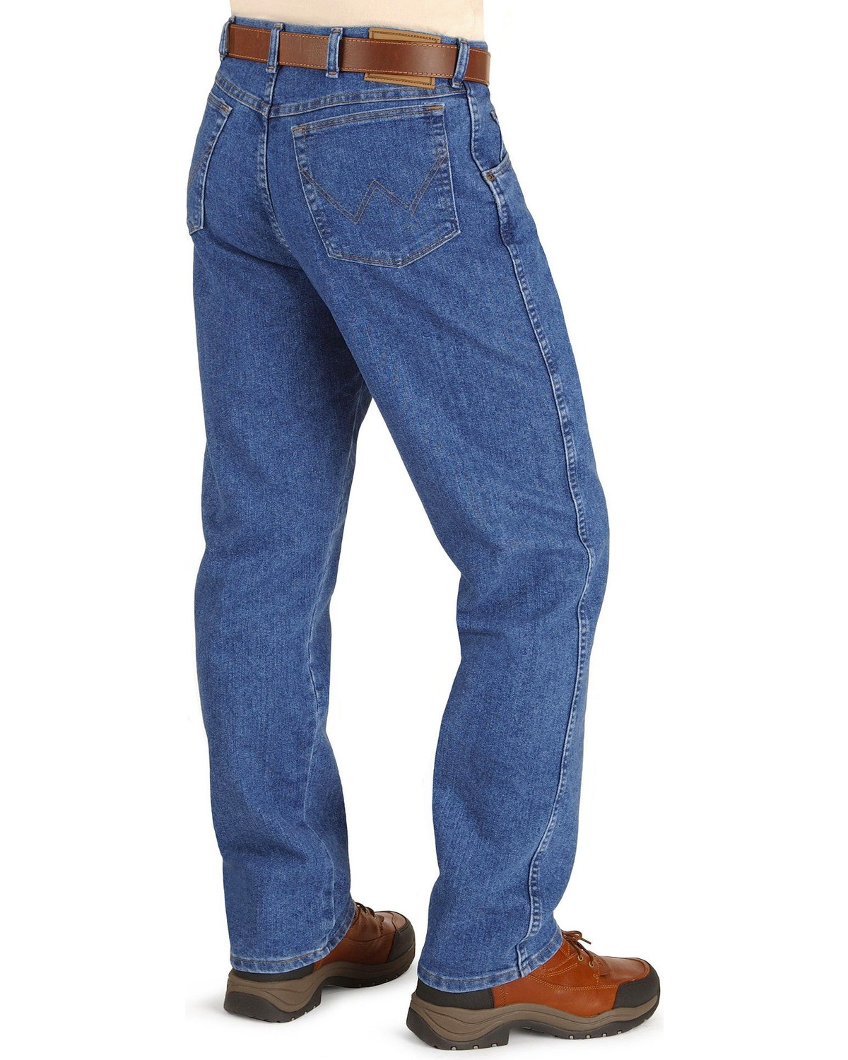 5bcbaccd Zoomed Image Wrangler Men's Rugged Wear Stretch Jeans, Stonewash, ...