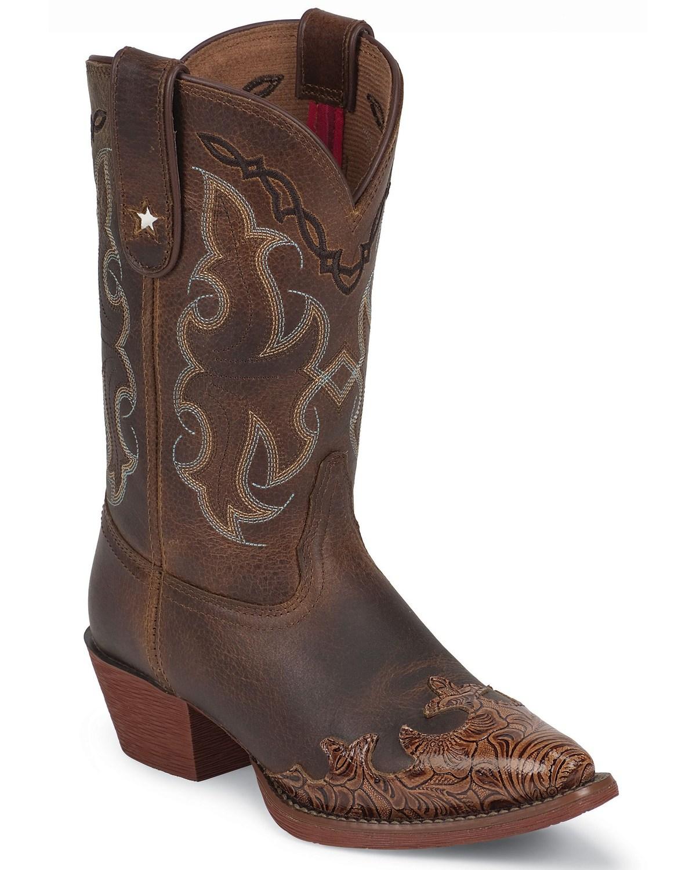 60416a22c0d Tony Lama Girls' Tiny Lama Vaquero Savannah Cowboy Boots - Pointed Toe