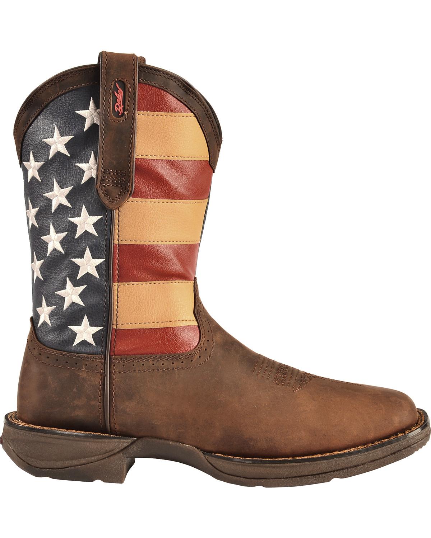 Durango Men's Patriotic Square Toe Western Boots