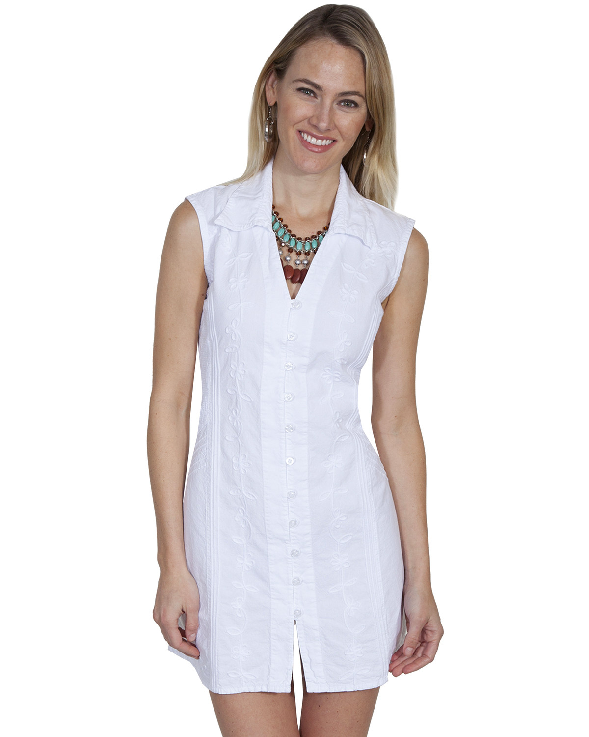2d75a37e Zoomed Image Cantina by Scully Women's White Button Down Dress, White,  hi-res. Zoomed Image ...