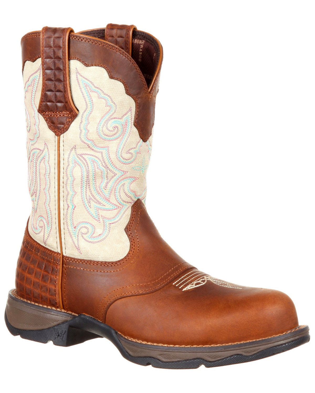 b9cb3c6429c Durango Women's Lady Rebel Saddle Western Work Boots - Composite Toe