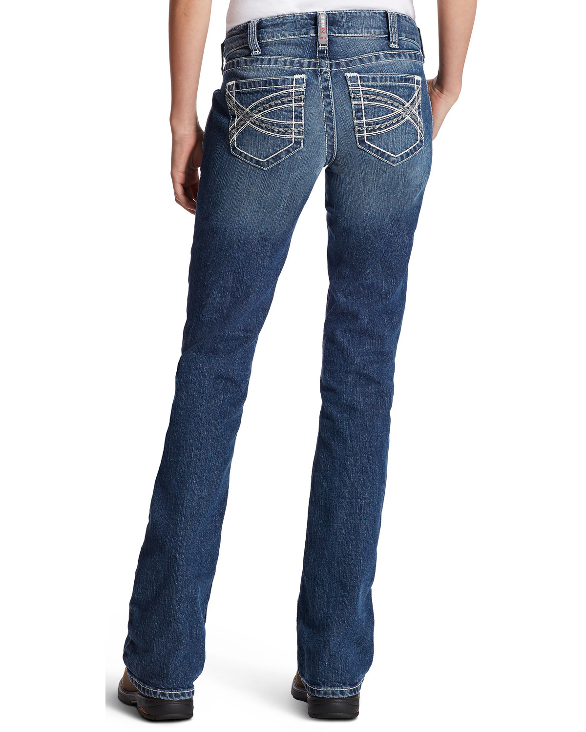 Ariat Women S Fr Entwined Boot Cut Jeans Boot Barn