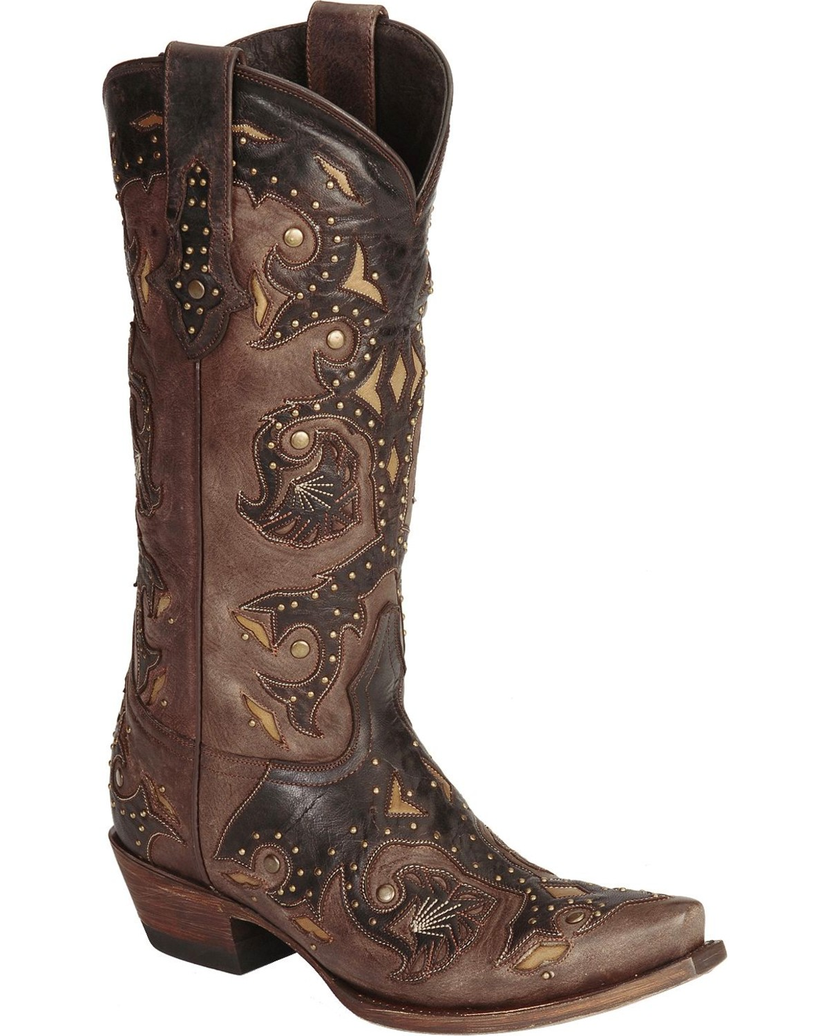 05a68cf27f9 Lucchese Women s Studded Scarlette Western Boots