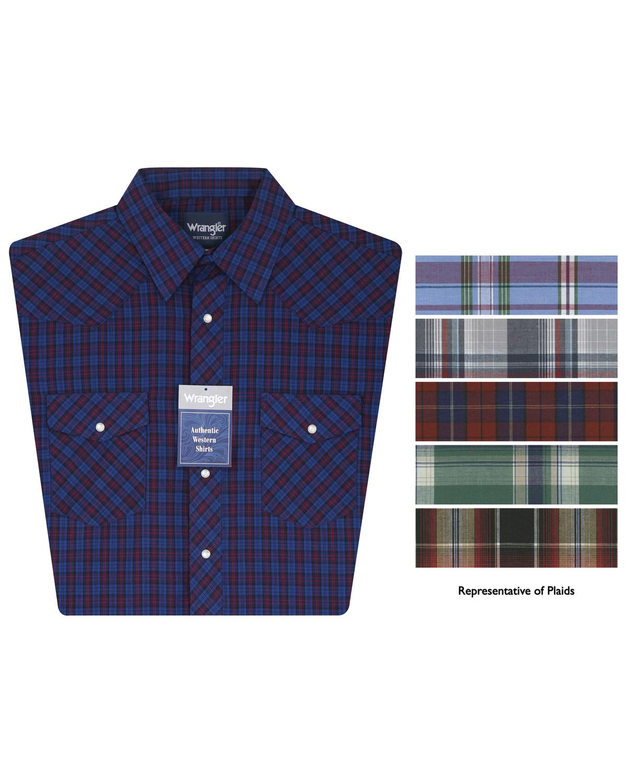 15eaefb5b15 Wrangler Men s Assorted Short Sleeve Plaid Western Shirt