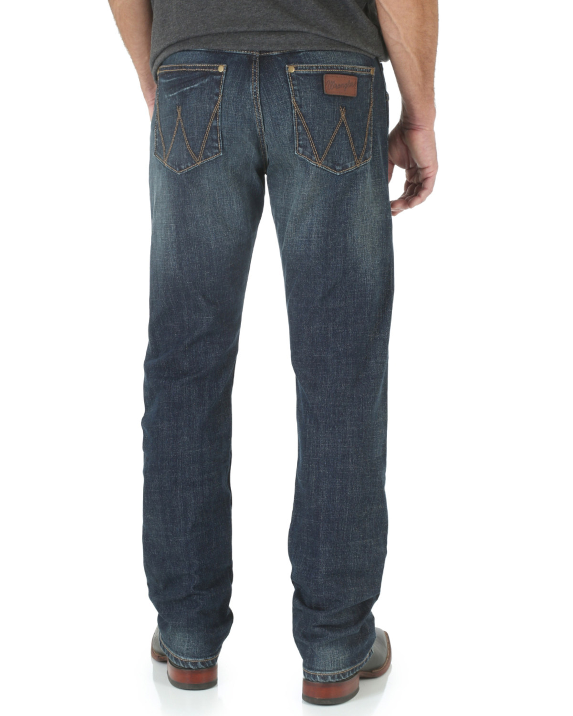 407f6b10 Zoomed Image Wrangler Retro Men's Limited Edition Slim Straight Jeans,  Denim, ...