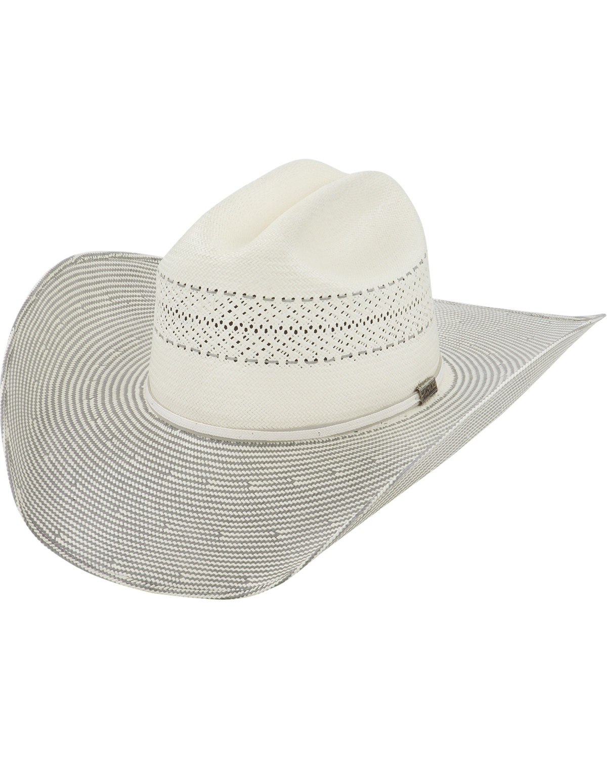 Larry Mahan Men s 10X Grey Cinch Straw Cowboy Hat  c1d014c6357