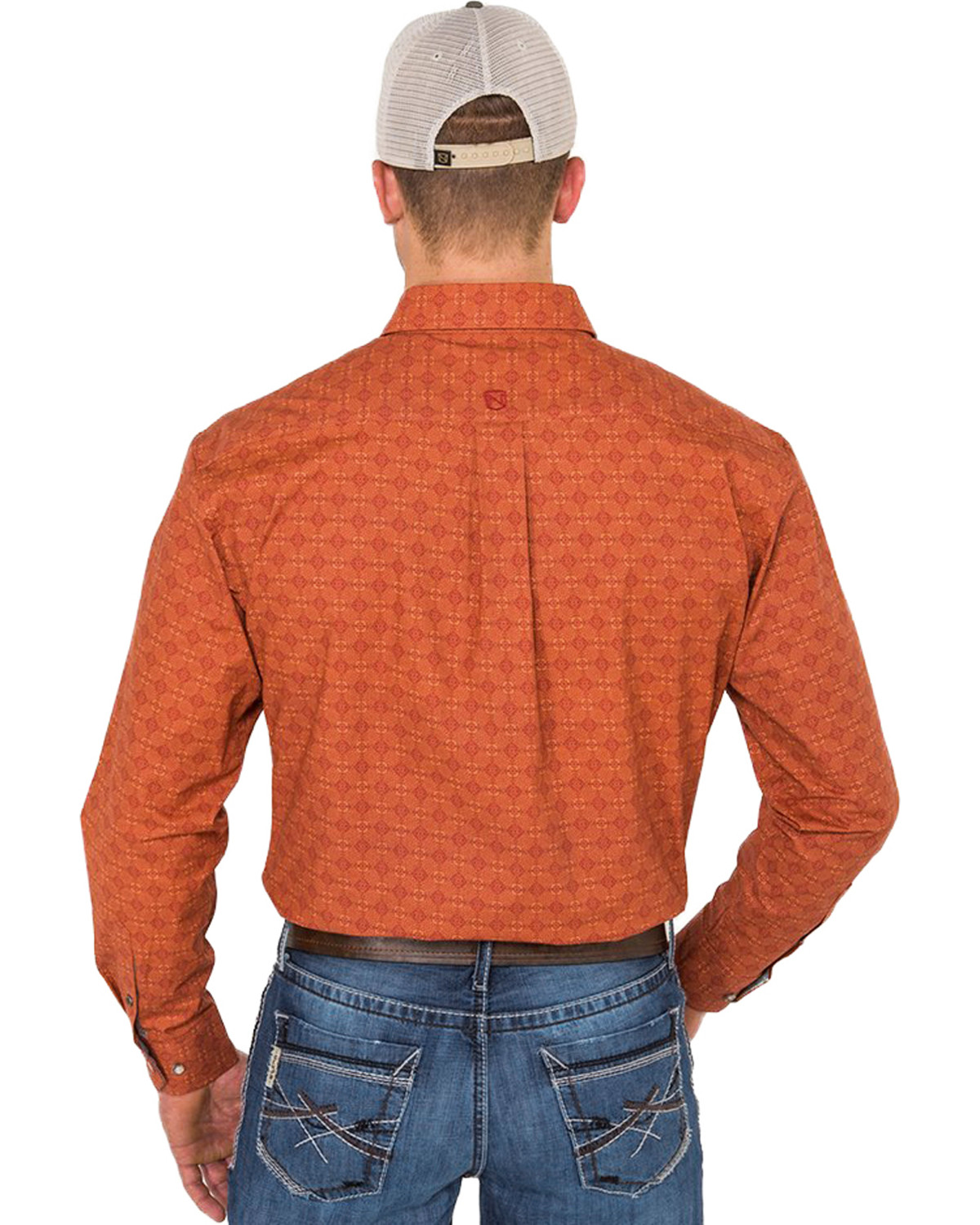 Noble Outfitters Mens Burnt Sienna Geo Print Shirt Boot Barn