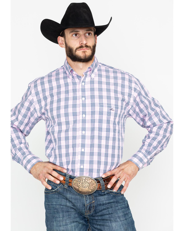 Resistol Men s Foothills Plaid Long Sleeve Western Shirt  b3c0034982b