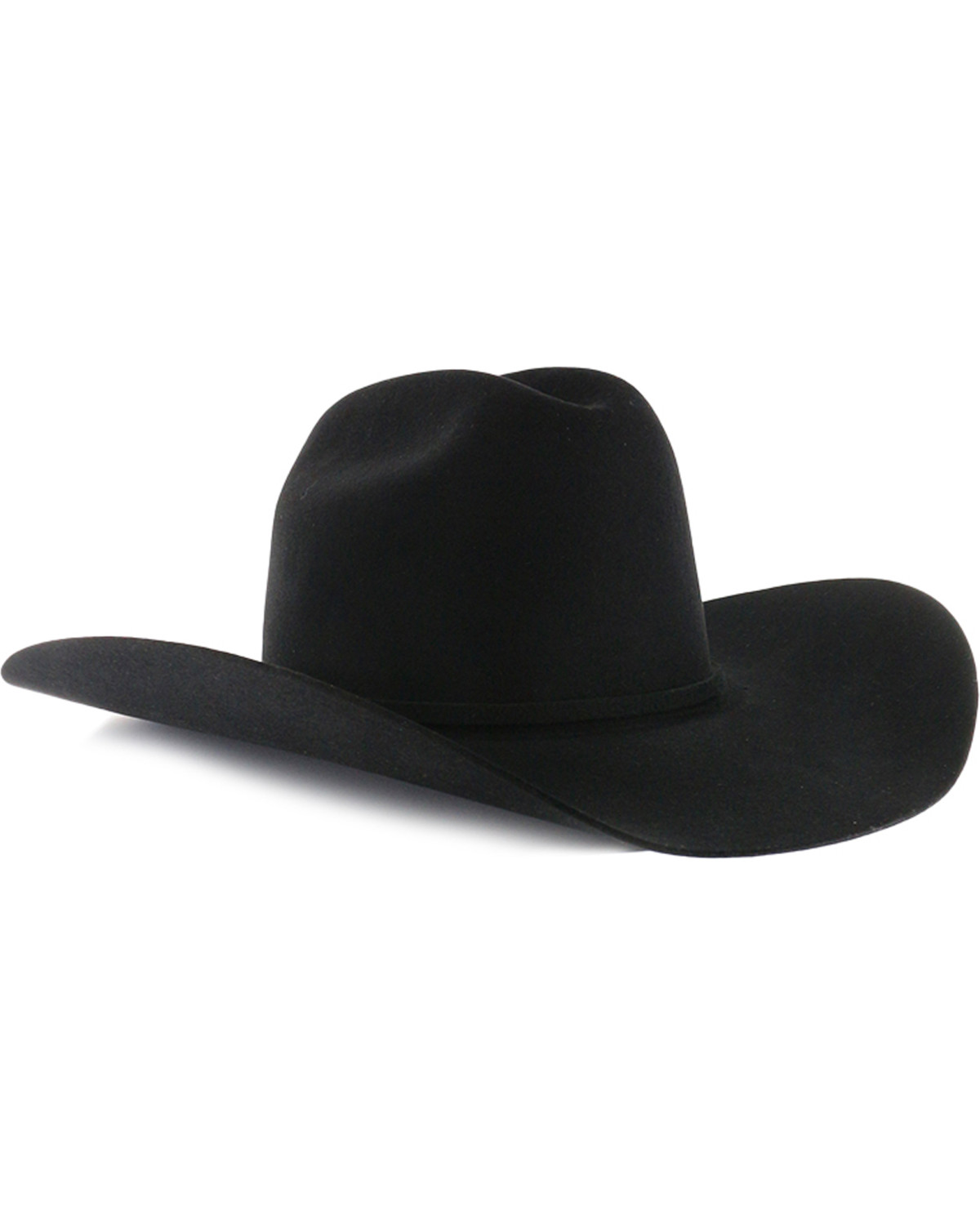 bd7eac7d Zoomed Image Rodeo King Rodeo 5X Felt Cowboy Hat, Black, hi-res. Zoomed  Image ...