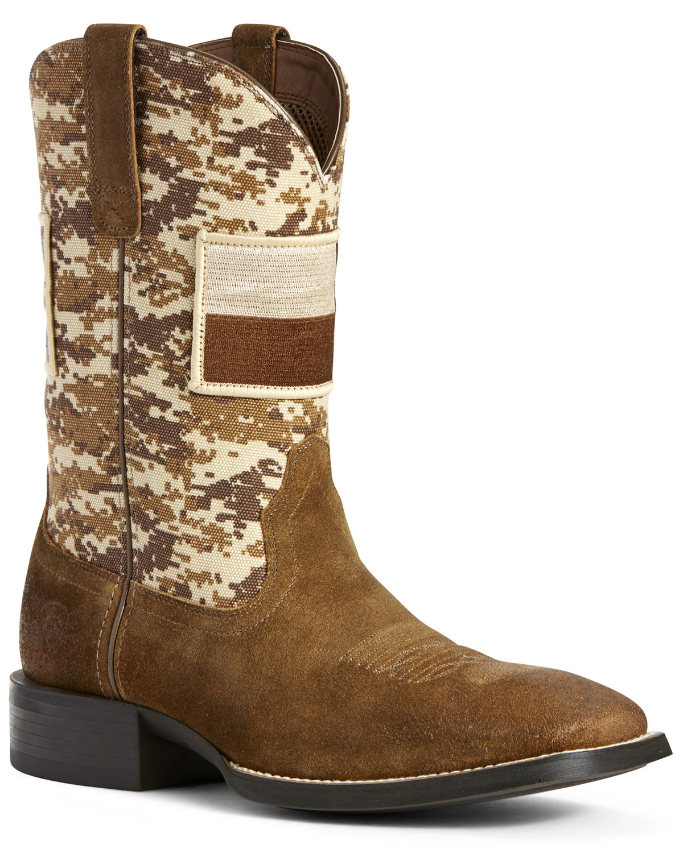 Ariat Men's Sport Patriot Texas Flag Western Boots