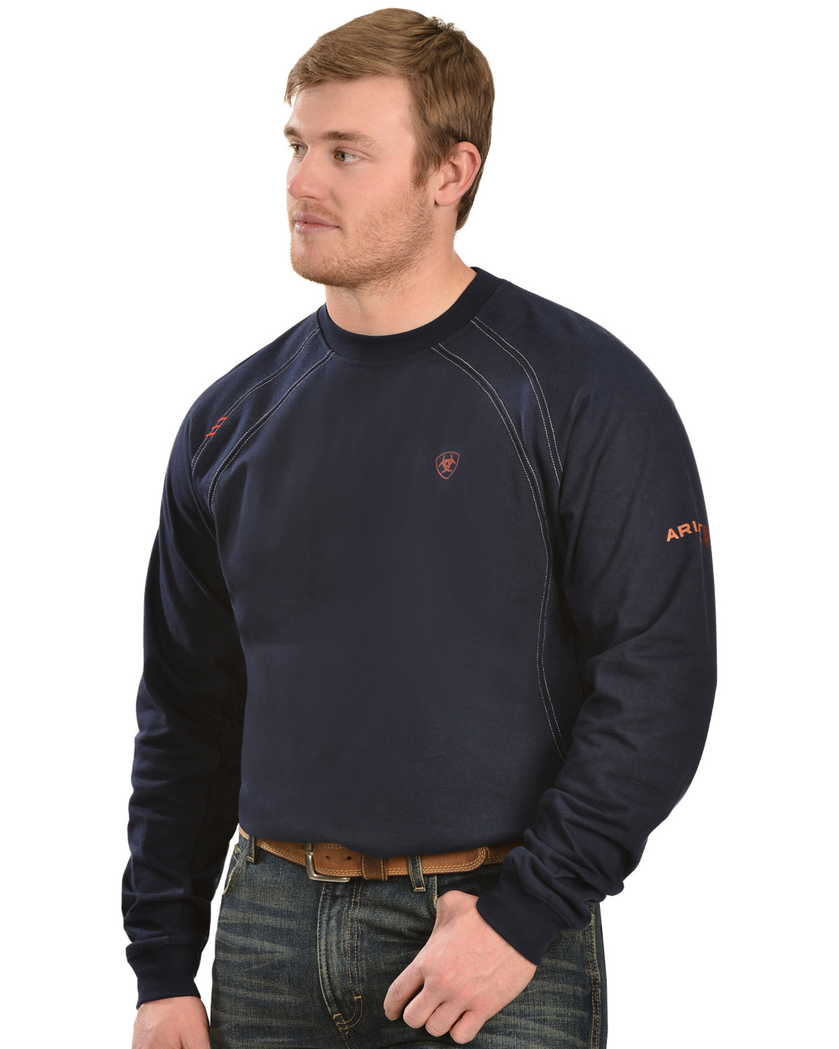 cdf03fc754 Zoomed Image Ariat Flame Resistant Workwear Crew Long Sleeve T-Shirt - Big  & Tall, Navy