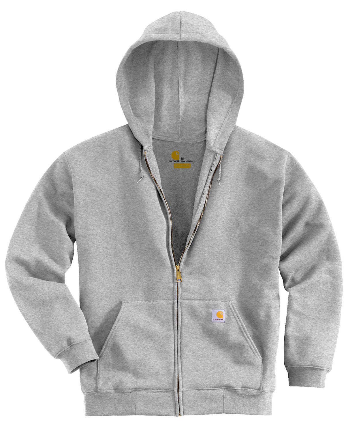 c437c9af7 Zoomed Image Carhartt Men's Midweight Hooded Zip-Front Sweatshirt, Grey, ...