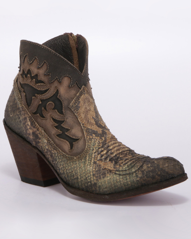 f2739ec6a71 Liberty Black Women's Python Verde Western Booties - Medium Toe