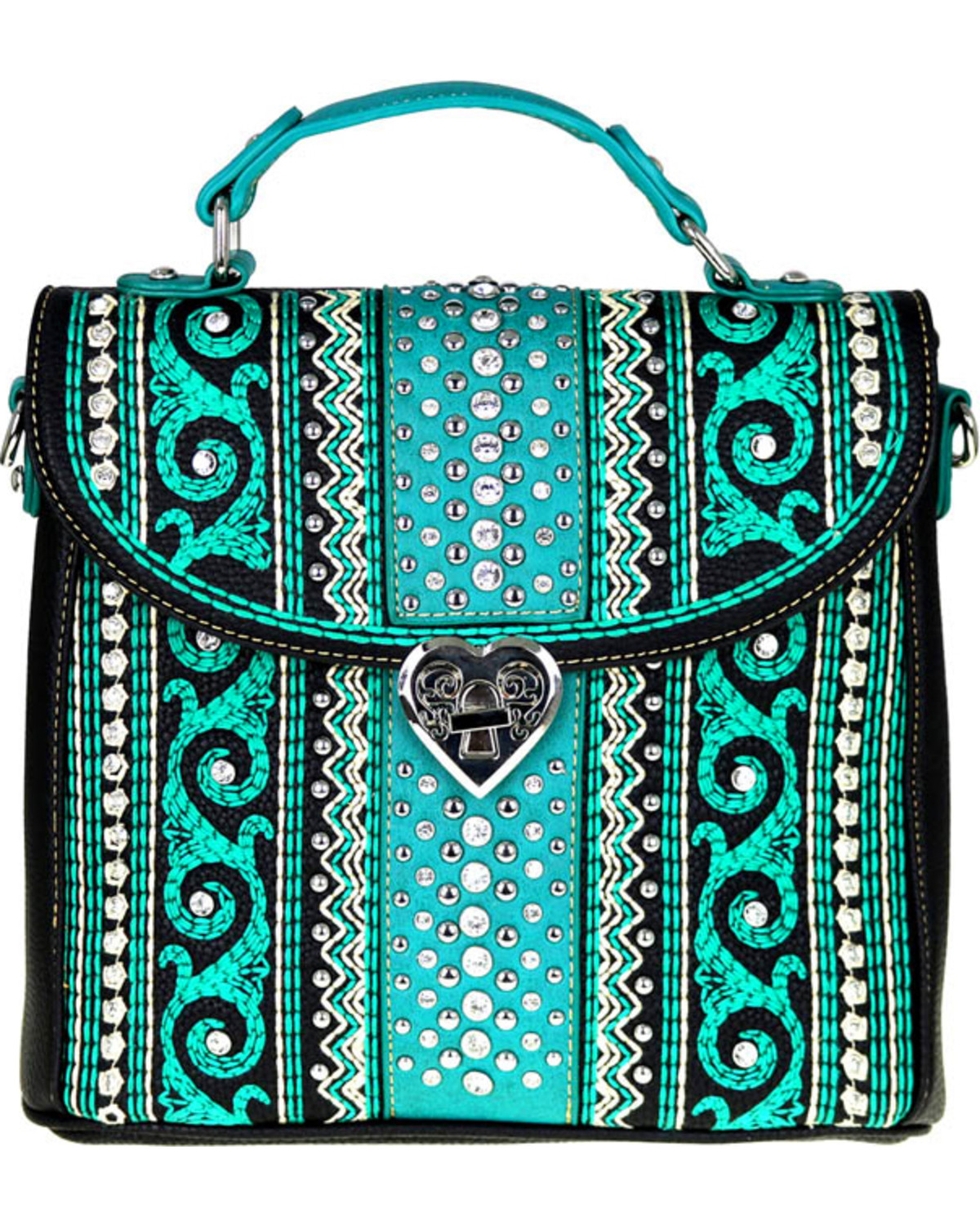 ee7a01615 Zoomed Image Montana West Women's Bling Bling Collection Tote/Crossbody Bag,  , hi-res