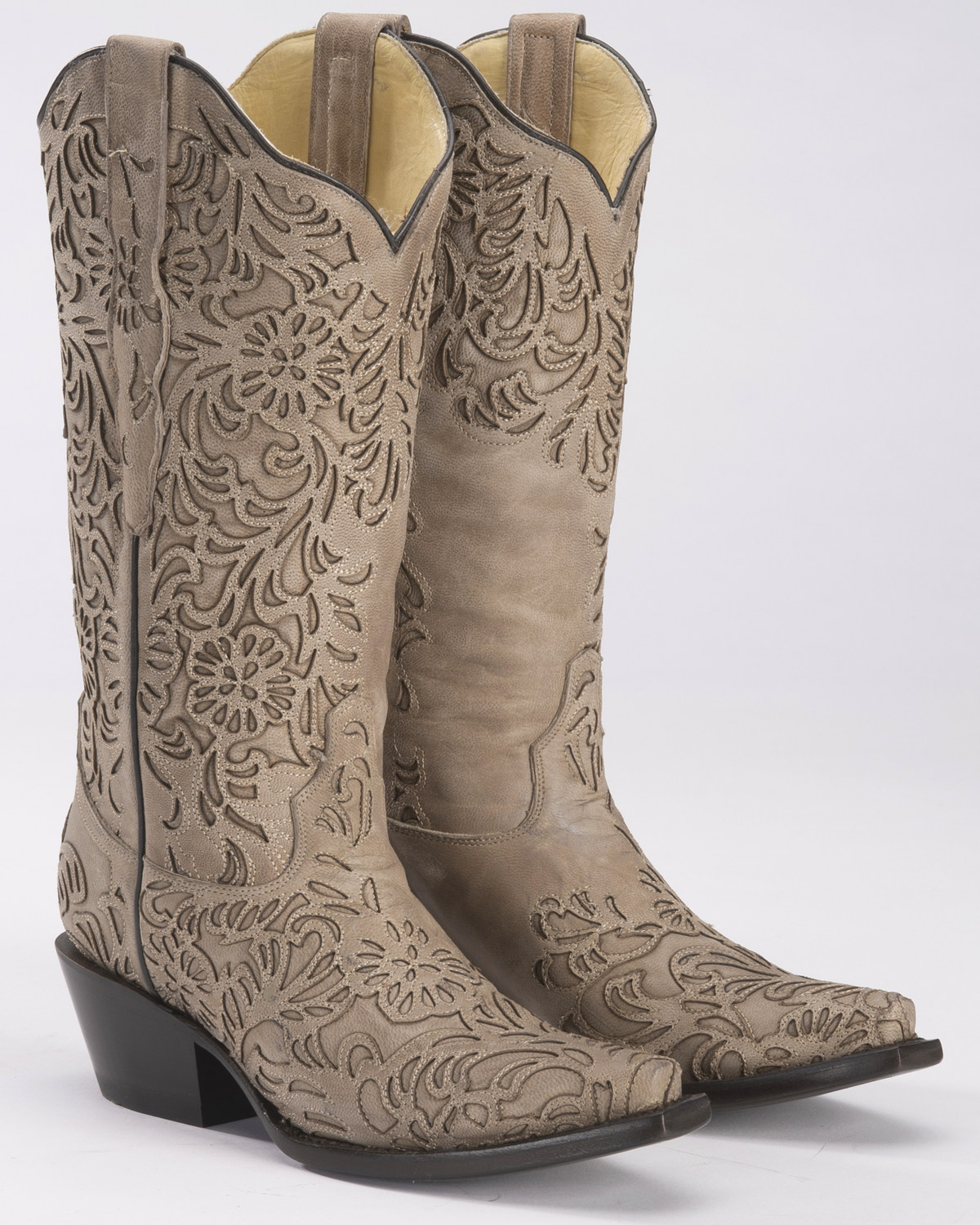 shopping classic shoes really cheap Corral Women's Bone Cutout Cowgirl Boots - Snip Toe | Boot Barn