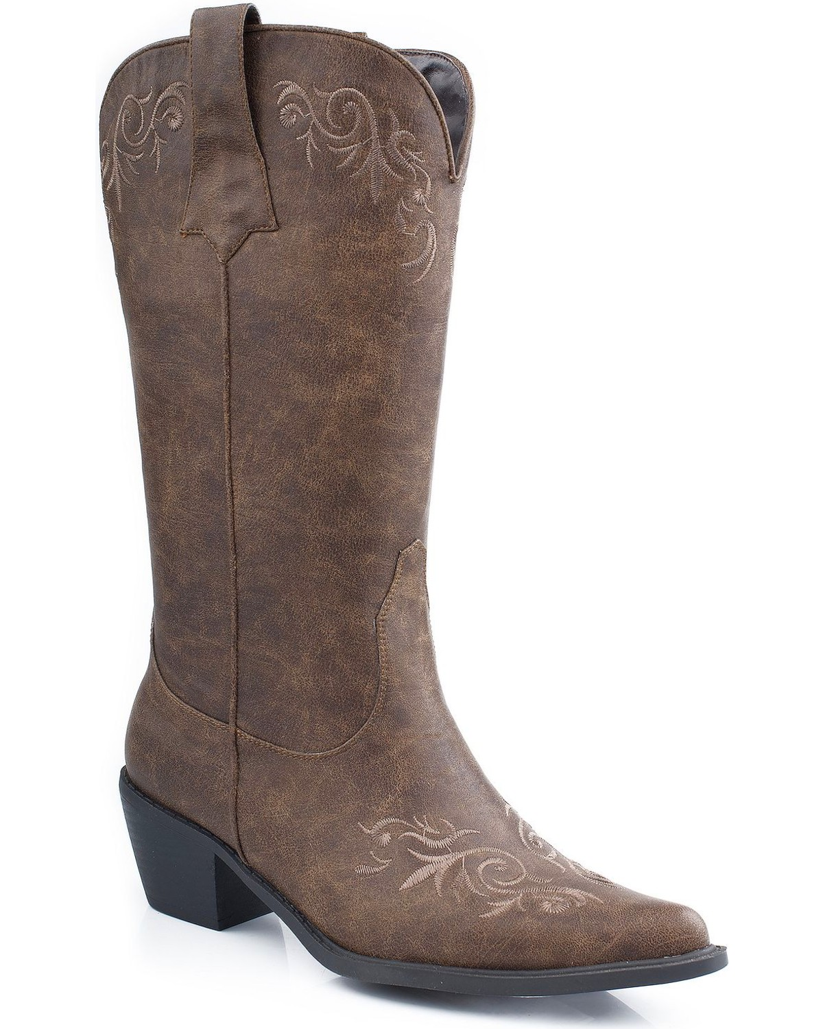fcb5b144838 Roper Embroidered Faux Leather Cowgirl Boots - Pointed Toe