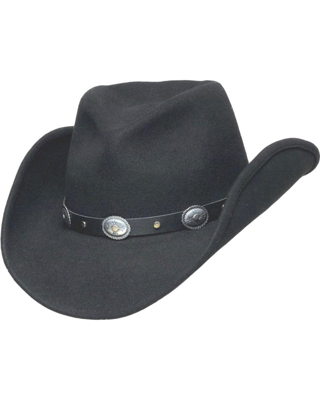 Western Express Men s Black Santa Fe Crushable Wool Hat  4c2f9e31499