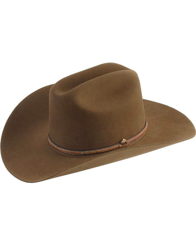 0f1f48cf Zoomed Image Stetson Powder River 4X Buffalo Fur Felt Hat, Mink, hi-res.  Zoomed Image ...