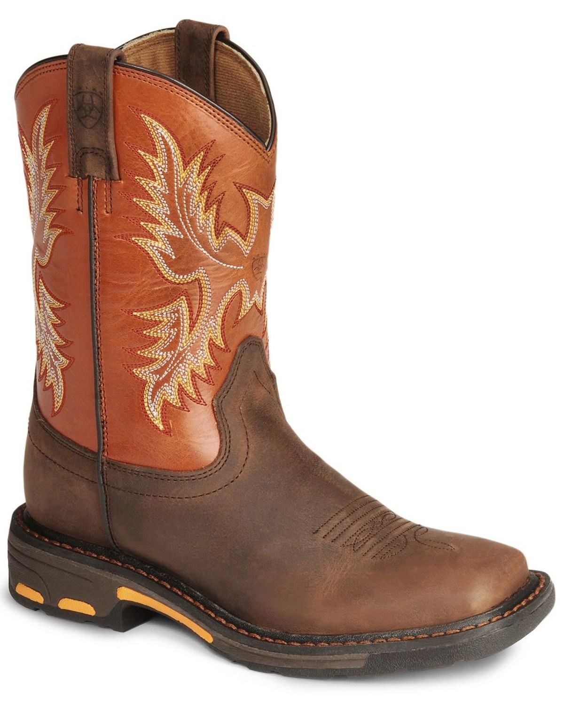 Ariat Kid's Workhog Work Boots   Boot Barn