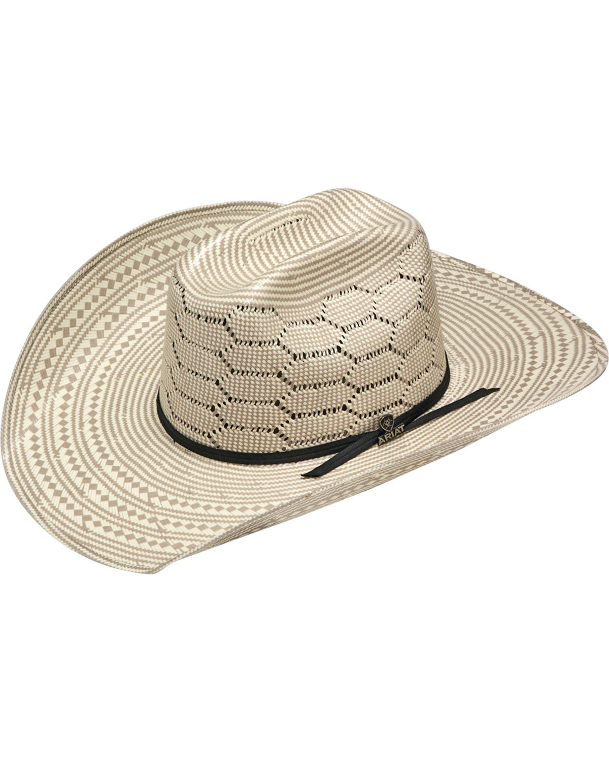 8d74b29ea2c Ariat Men s 20X Straw Two-Tone Vented Crown Cowboy Hat