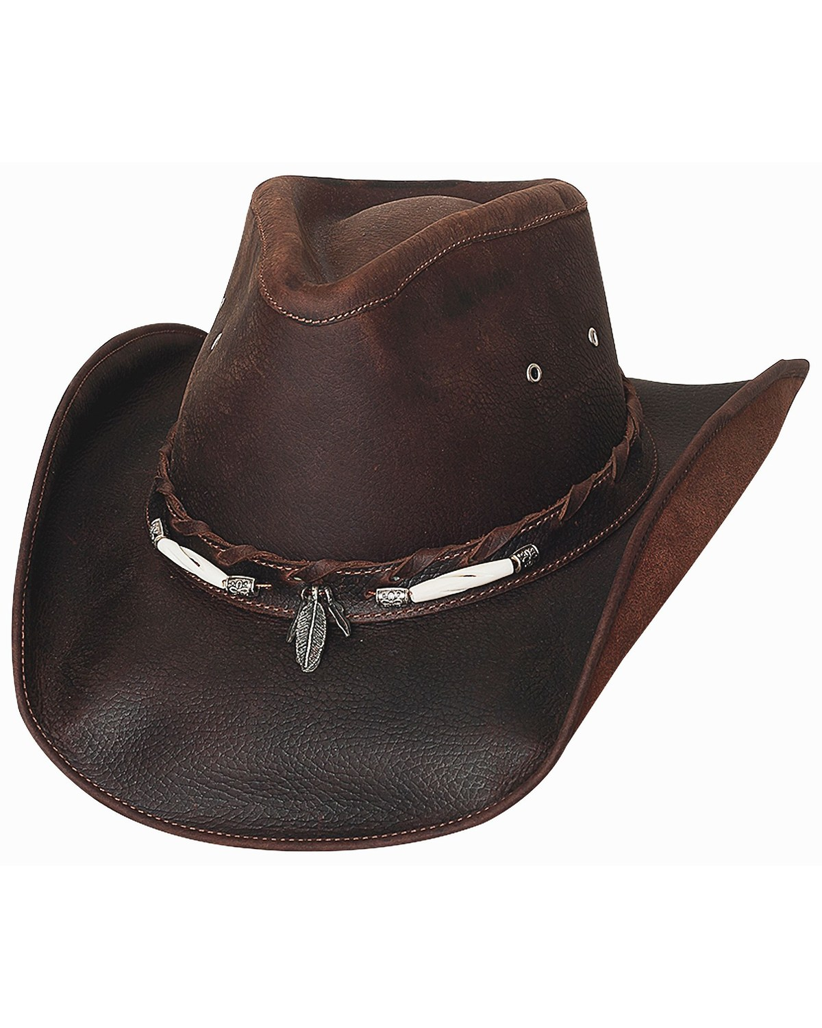 11ccce8ce67 Bullhide Briscoe Leather Cowboy Hat