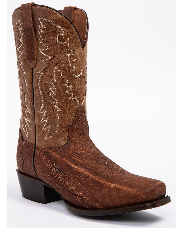 96a74c2aa19 Dan Post Men's Cognac Shark Cowboy Boots - Square Toe