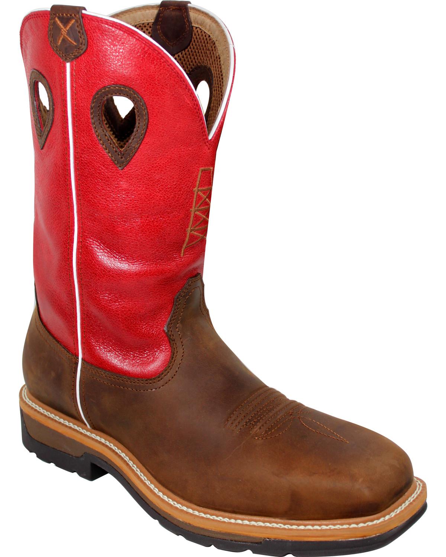 Twisted X Mens Steel BRN//Blu Work Boots