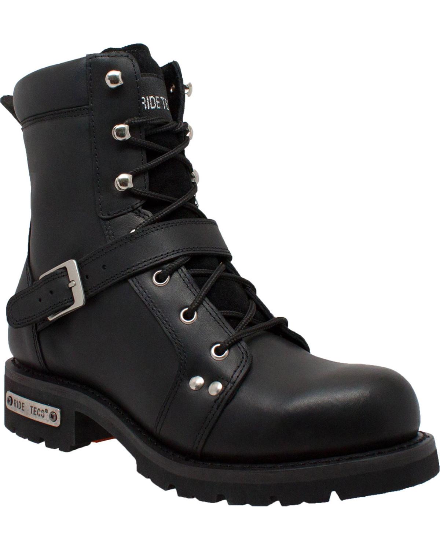 Ad Tec Men S 8 Quot Lace Zipper Biker Boots Soft Toe Boot Barn