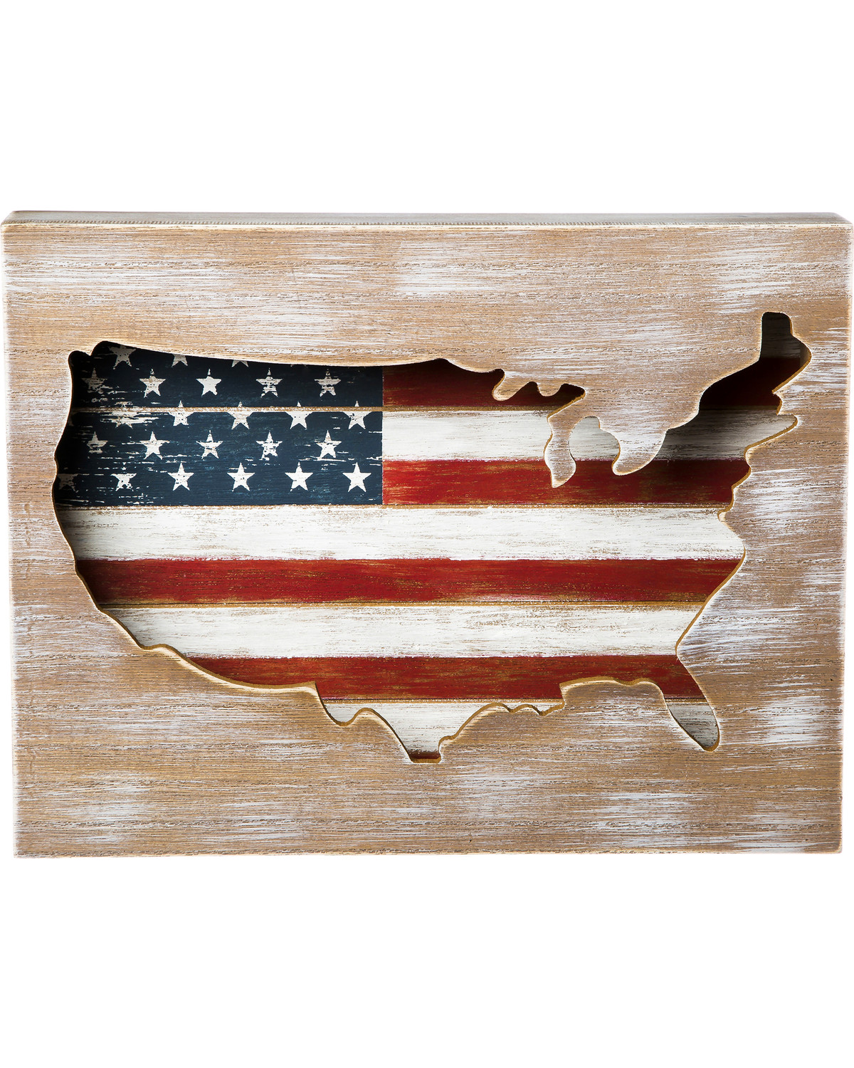 Evergreen American Flag Wooden Wall Decor Boot Barn