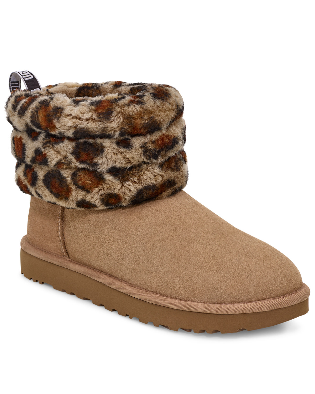 great prices best loved release info on UGG Women's Fluff Mini Quilted Leopard Boots - Round Toe | Boot Barn