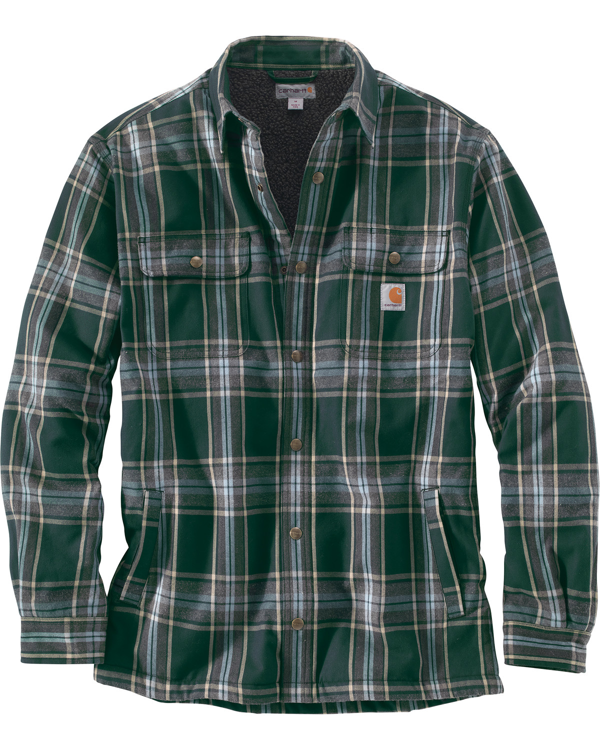 e9759c316 Carhartt Men s Hubbard Sherpa-Lined Shirt Jacket - Big