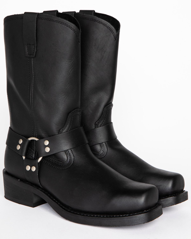 c865dc5d71846 Zoomed Image Cody James Men's Black Harness Boots - Square Toe, Black, ...