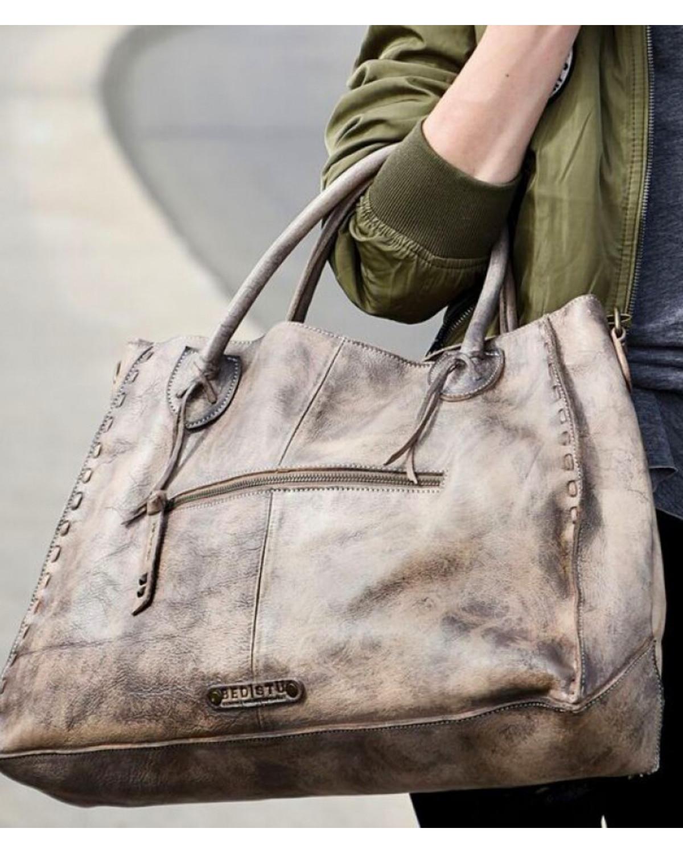 347a1a8962 Bed Stu Women s Rockaway Taupe Driftwood Handbag