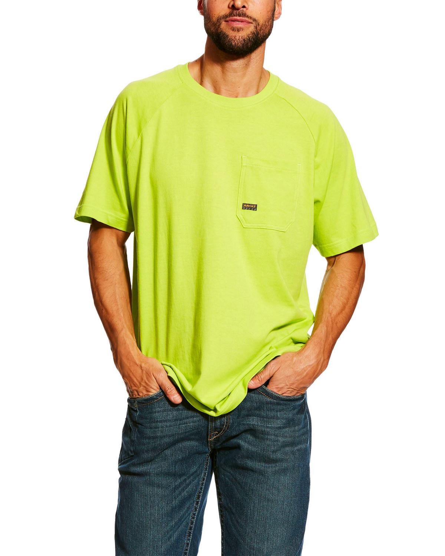 ARIAT Mens Rebar Logo Long Sleeve Crewwork Utility Tee Shirt