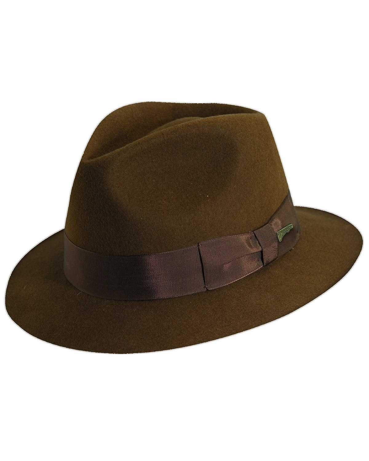 Indiana Jones Pinch Front Wool Felt Fedora Hat  4bba7333623