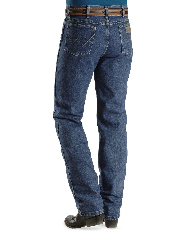 43e8d091 Zoomed Image George Strait Wrangler Men's Slim Fit Western Jeans, Denim, ...