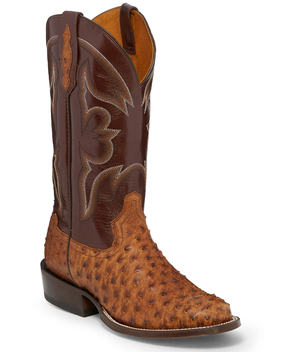 77c61723cb0 Tony Lama Men's Ronnie Full Quill Ostrich Western Boots - Round Toe