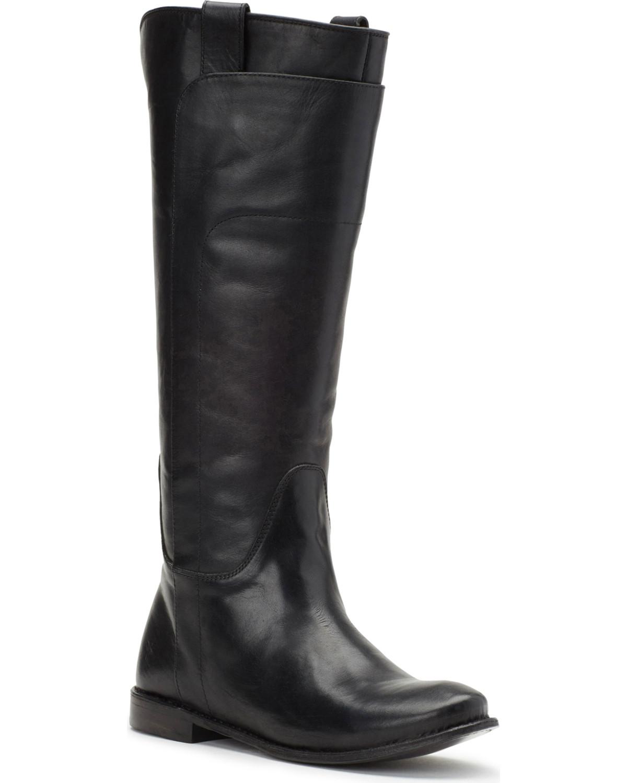 cc399fe7e7d Frye Women's Black Paige Tall Riding Boots - Round Toe