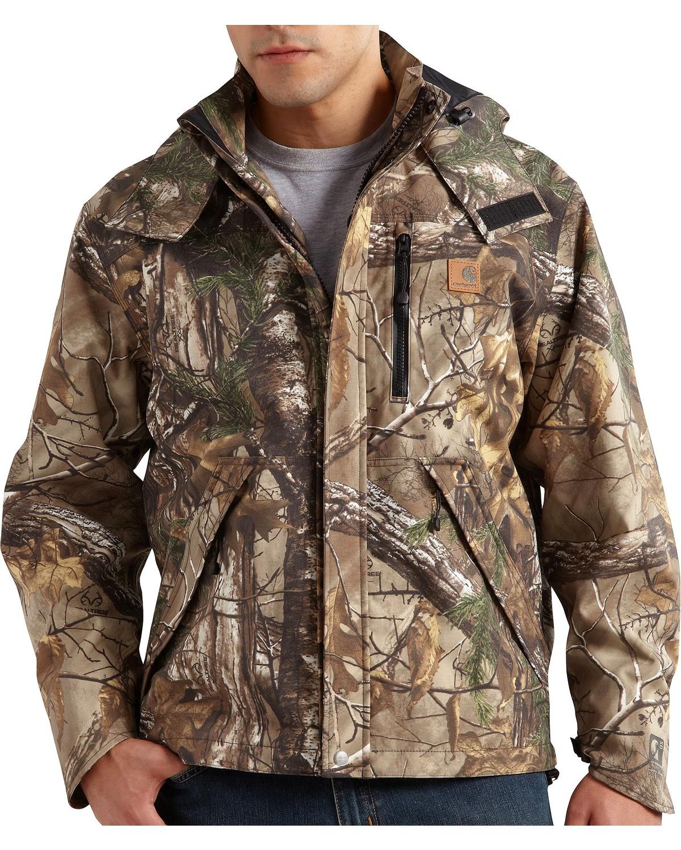 8b683ecc55ec2 Zoomed Image Carhartt Camo Shoreline Jacket - Big & Tall, Camouflage, ...