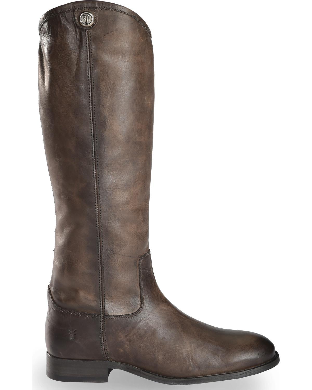 Frye Women S Slate Melissa Button 2 Tall Boots Round Toe