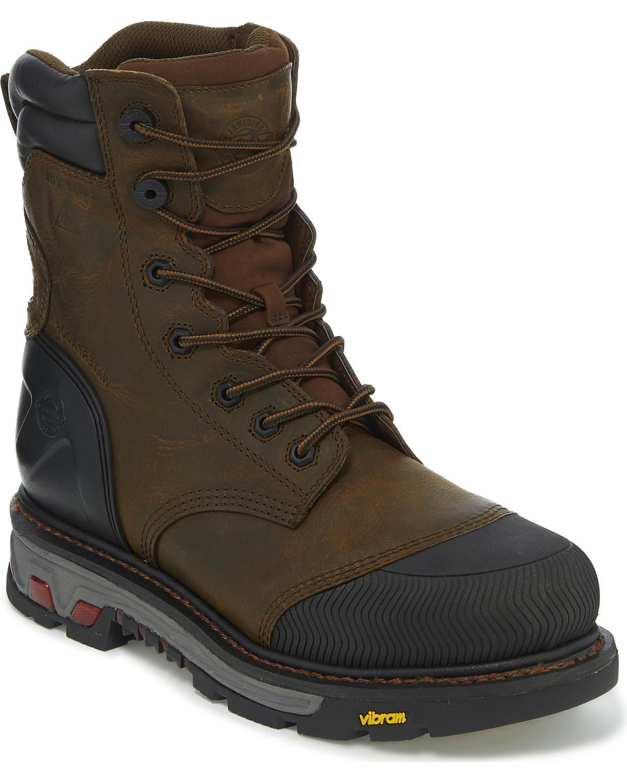 f1f50f03fdd Justin Men's Warhawk Waterproof Composite Toe Work Boots