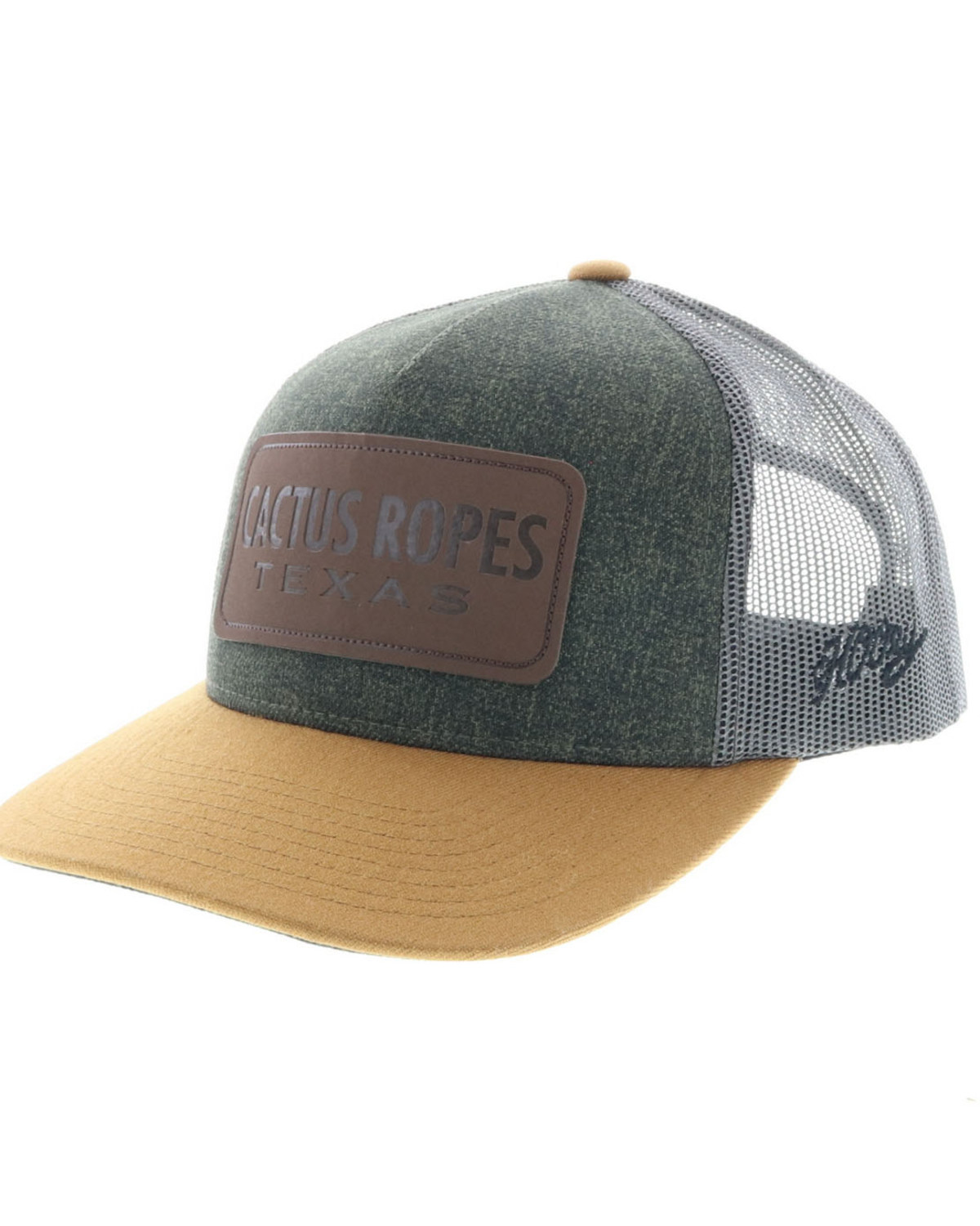 5f70924f63283a Zoomed Image HOOey Men's Cactus Ropes Trucker Cap, Grey, ...